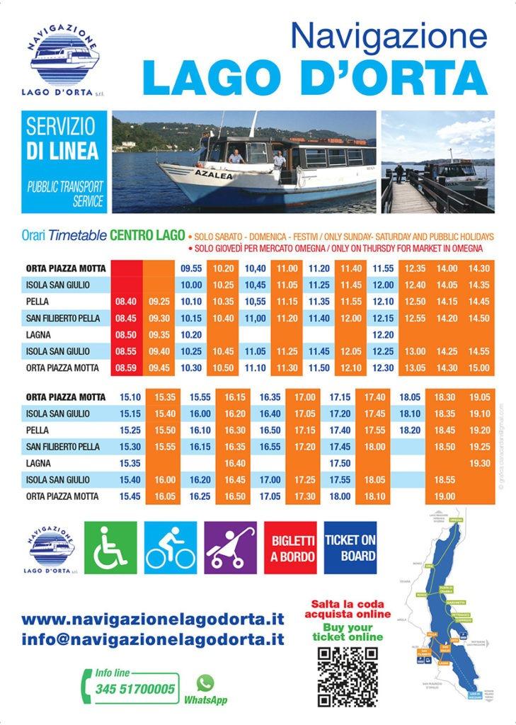 Public line navigation Lake Orta