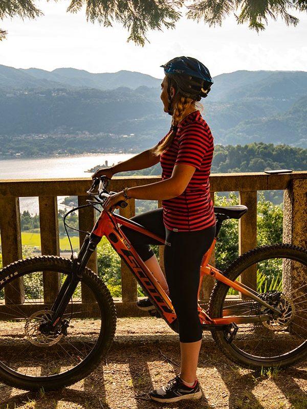 mountain bike itineraries to lake orta
