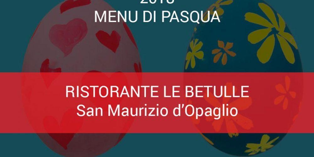 Menu di Pasqua Ristorante Le Betulle 2018