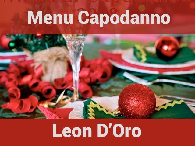 Menu capodanno Leon d'Oro