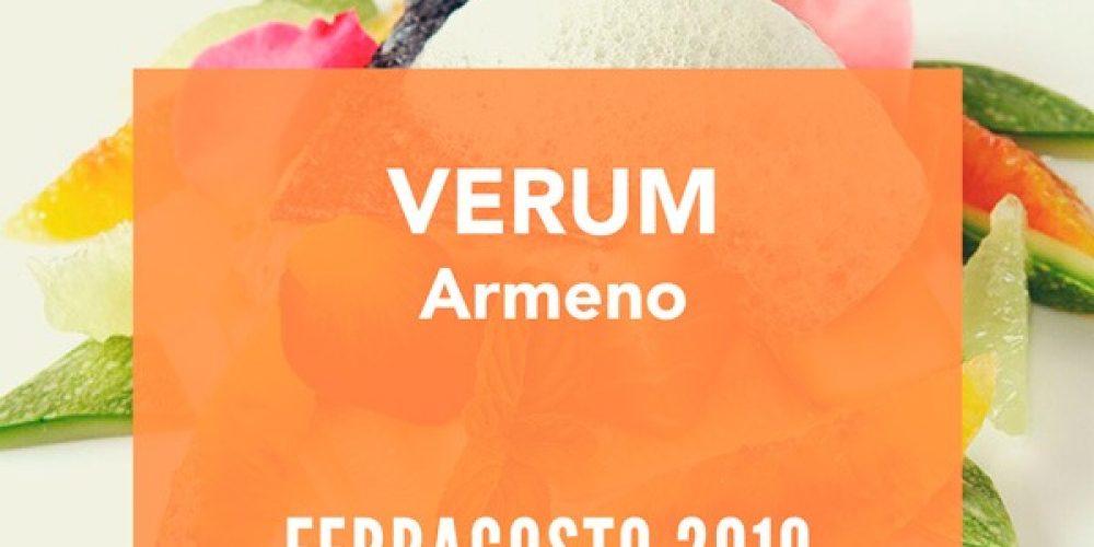 Menu ferragosto ristorante Verum